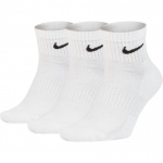 Nike Everyday Cushioned Ankle Socks (3 Pair) - WHITE Nike Everyday Cushioned Ankle Socks (3 Pair) - WHITE