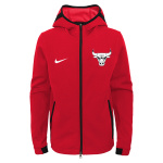 Nike Chicago Bulls NBA Kids Showtime Hoodie - RED Nike Chicago Bulls NBA Kids Showtime Hoodie - RED
