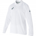 Asics Playing Longsleeve Cricket Shirt - White Asics Playing Longsleeve Cricket Shirt - White