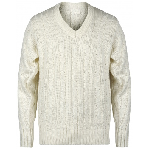 Gray Nicolls Long Sleeve Sweater - Off White