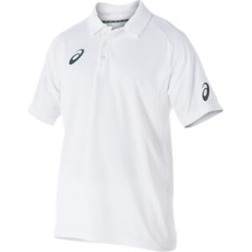 Asics Playing Junior Shortsleeve Cricket Tee - White