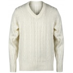 Gray Nicolls Long Sleeve Junior Sweater - Off White Gray Nicolls Long Sleeve Junior Sweater - Off White