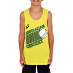 ASICS Cricket Australia Kids WORLD SERIES Supporter Singlet - YELLOW ASICS Cricket Australia Kids WORLD SERIES Supporter Singlet - YELLOW