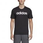 Adidas Men's Essentials Linear Logo Tee - Black/White Adidas Men's Essentials Linear Logo Tee - Black/White