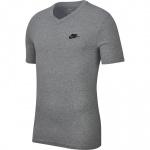 Nike Men's Club V-Neck Tee -  DK GREY HEATHER/BLACK Nike Men's Club V-Neck Tee -  DK GREY HEATHER/BLACK