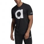 Adidas Men's Essentials Branded T-shirt - black/white Adidas Men's Essentials Branded T-shirt - black/white