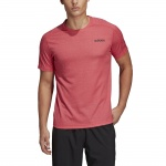 Adidas Men's Design2Move Tee - Active Red Adidas Men's Design2Move Tee - Active Red