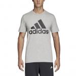 Adidas Men's Must Haves BOS Tee - Medium Grey Heather/Black
