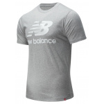 New Balance Mens Essentials Stacked Logo Tee - Athletic Grey New Balance Mens Essentials Stacked Logo Tee - Athletic Grey