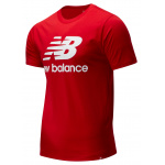 New Balance Mens Essentials Stacked Logo Tee - TEAM RED New Balance Mens Essentials Stacked Logo Tee - TEAM RED