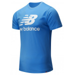 New Balance Mens Essentials Stacked Logo Tee - FADED COBALT New Balance Mens Essentials Stacked Logo Tee - FADED COBALT
