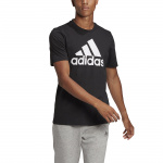 Adidas Mens Big Logo Essentials T-Shirt - Black/White Adidas Mens Big Logo Essentials T-Shirt - Black/White