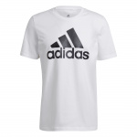Adidas Mens Big Logo Essentials T-Shirt - White/Black Adidas Mens Big Logo Essentials T-Shirt - White/Black