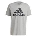 Adidas Mens Big Logo Essentials T-Shirt - Medium Grey Heather Adidas Mens Big Logo Essentials T-Shirt - Medium Grey Heather
