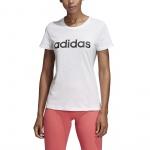 Adidas Women's Essentials Linear Slim Tee - White/Black