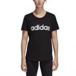 Adidas Women's Essentials Linear Slim Tee - Black/White