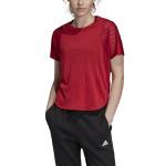 Adidas Women's ID Mesh Tee - Active Maroon