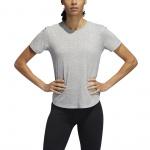 Adidas Women's Adaptable Length Tee - Medium Grey Heather Adidas Women's Adaptable Length Tee - Medium Grey Heather