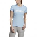 Adidas Womens Essentials Linear Slim Tee - Glow Blue/White Adidas Womens Essentials Linear Slim Tee - Glow Blue/White