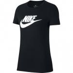 Nike Women's Sportswear Essential Icon T-Shirt - BLACK/WHITE Nike Women's Sportswear Essential Icon T-Shirt - BLACK/WHITE