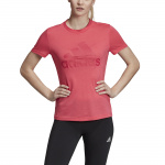 Adidas Womens Must Haves Badge of Sport Tee - REAL PINK Adidas Womens Must Haves Badge of Sport Tee - REAL PINK
