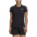 Adidas Women's Essentials 3S Slim Tee - Black/White Adidas Women's Essentials 3S Slim Tee - Black/White