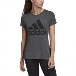 Adidas Womens Must Haves Winners Tee - Black Melange Adidas Womens Must Haves Winners Tee - Black Melange