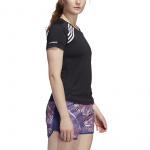 Adidas Womens Run It 3 Stripes Tee - Black Adidas Womens Run It 3 Stripes Tee - Black
