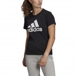 Adidas Womens Essentials Logo BL Tee - Black/White Adidas Womens Essentials Logo BL Tee - Black/White
