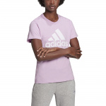 Adidas Womens Essentials Logo BL Tee - lear Lilac/White Adidas Womens Essentials Logo BL Tee - lear Lilac/White