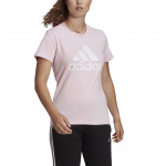 Adidas Womens Essentials Logo Tee - Clear Pink/White Adidas Womens Essentials Logo Tee - Clear Pink/White