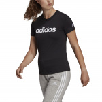 Adidas Womens Essentials Linear Slim Logo Tee - Black/White Adidas Womens Essentials Linear Slim Logo Tee - Black/White
