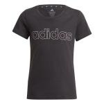 Adidas Girls Essentials Logo Tee - Black/White (GN4042) Adidas Girls Essentials Logo Tee - Black/White (GN4042)