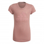Adidas Girls Must Haves Tee - Hazy Rose Mel/Hazy Rose Adidas Girls Must Haves Tee - Hazy Rose Mel/Hazy Rose