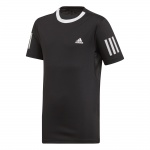 Adidas Boys 3-Stripes Club Tee - Black/White Adidas Boys 3-Stripes Club Tee - Black/White