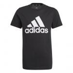Adidas Boys Essentials Big Logo Tee - Black/White Adidas Boys Essentials Big Logo Tee - Black/White