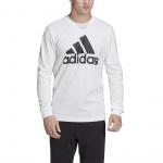 Adidas Mens Must Have BOS Longsleeve Single Sweatshirt - White Adidas Mens Must Have BOS Longsleeve Single Sweatshirt - White