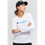 Champion Womens Script Long Sleeve Tee - WHITE Champion Womens Script Long Sleeve Tee
