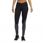 Adidas Womens ALPHASKIN 7/8 STRIPE PRINT TIGHT - Black Adidas Womens ALPHASKIN 7/8 STRIPE PRINT TIGHT - Black