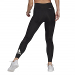 Adidas Womens Designed To Move Big Logo Sport Tights - BLACK Adidas Womens Designed To Move Big Logo Sport Tights - BLACK