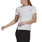 Adidas Womens AEROREADY Designed 2 Move 3-Stripes Sport Tee - WHITE/BLACK Adidas Womens AEROREADY Designed 2 Move 3-Stripes Sport Tee - WHITE/BLACK