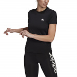 Adidas Womens AEROREADY Designed 2 Move 3-Stripes Sport Tee - BLACK/WHITE Adidas Womens AEROREADY Designed 2 Move 3-Stripes Sport Tee - BLACK/WHITE