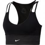 Nike Women's Swoosh Rebel Pocket Sports Bra - BLACK/BLACK/WHITE Nike Women's Swoosh Rebel Pocket Sports Bra - BLACK/BLACK/WHITE
