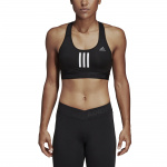 Adidas Don't Rest Alphaskin Sport+ Padded 3-Stripes Bra - BLACK Adidas Don't Rest Alphaskin Sport+ Padded 3-Stripes Bra - BLACK