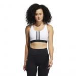 Adidas Womens Don't Rest 3-Stripes Sports Bra - WHITE/BLACK Adidas Womens Don't Rest 3-Stripes Sports Bra - WHITE/BLACK