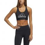 Adidas Dont Rest Badge Of Sport Sports Bra - BLACK/WHITE Adidas Dont Rest Badge Of Sport Sports Bra - BLACK/WHITE