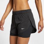 Nike Women's Flex 2-in1 Woven Short - BLACK/BLACK Nike Women's Flex 2-in1 Woven Short - BLACK/BLACK