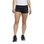 Adidas Women's PACER 3 STRIPE WOVEN SHORT - Black/White Adidas Women's PACER 3 STRIPE WOVEN SHORT - Black/White