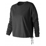 New Balance Women's Heather Tech Long Sleeve Tee - Black Heather New Balance Women's Heather Tech Long Sleeve Tee - Black Heather