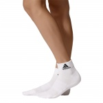 Adidas 3-Stripes Performance Ankle Socks - White/Black Adidas 3-Stripes Performance Ankle Socks - White/Black